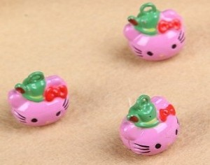 3 hello kitty belletjes