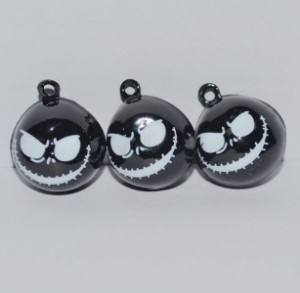 3 zwarte Nightmare Before Christmas Jack belletjes